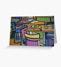Urban Culture - Cafe Life Greeting Card