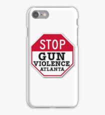 STOP GUN VIOLENCE ATLANTA iPhone Case/Skin