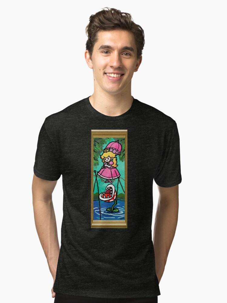 Mario Meets the Mansion Tri-blend T-Shirt Front