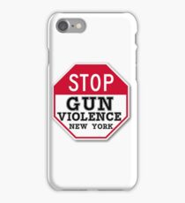 STOP GUN VIOLENCE NEW YORK iPhone Case/Skin