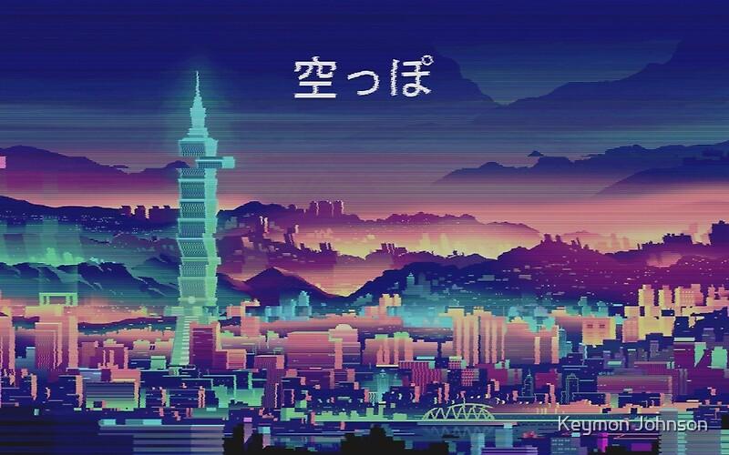 Quot Vapor Wave City Quot Canvas Prints By Keymon Johnson Redbubble