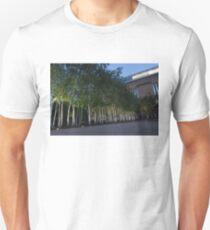 Modern Birch Garden in Front of Tate Modern Art Gallery, London T-Shirt