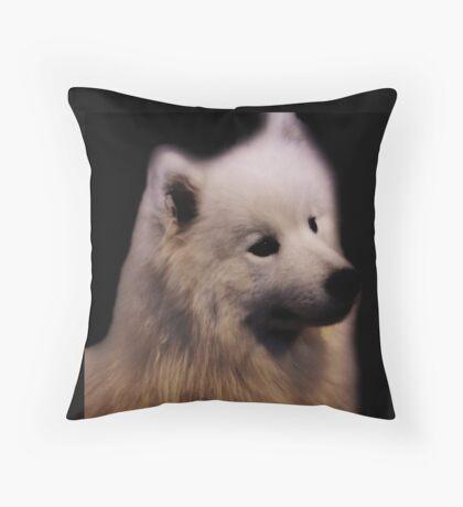 Samoyed Portrait Throw Pillow