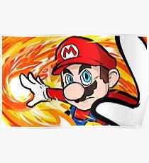 Mario | Fireball Poster