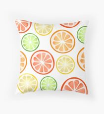 Citrus Fruit Slices Throw Pillow