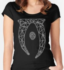 80's Cyber Oblivion and Skyrim Elder Scrolls Logo Women's Fitted Scoop T-Shirt