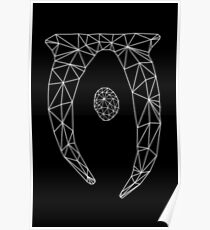 80's Cyber Oblivion and Skyrim Elder Scrolls Logo Poster