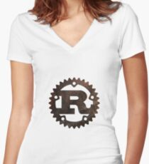 Rust lang Women's Fitted V-Neck T-Shirt
