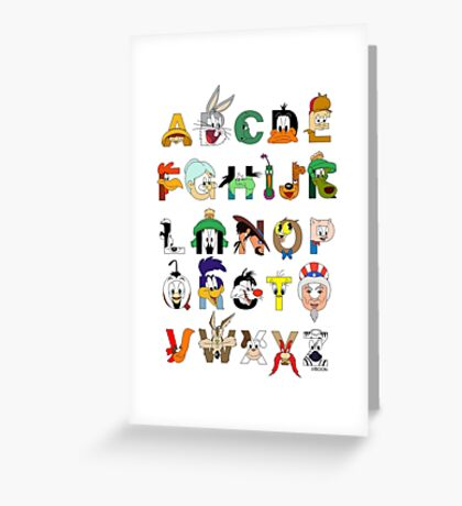 That's Alphabet Folks Greeting Card