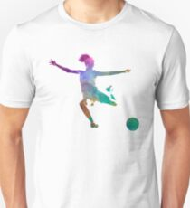 Woman soccer player 03 in watercolor Unisex T-Shirt