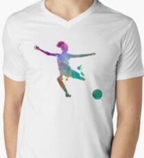 Woman soccer player 03 in watercolor T-Shirt