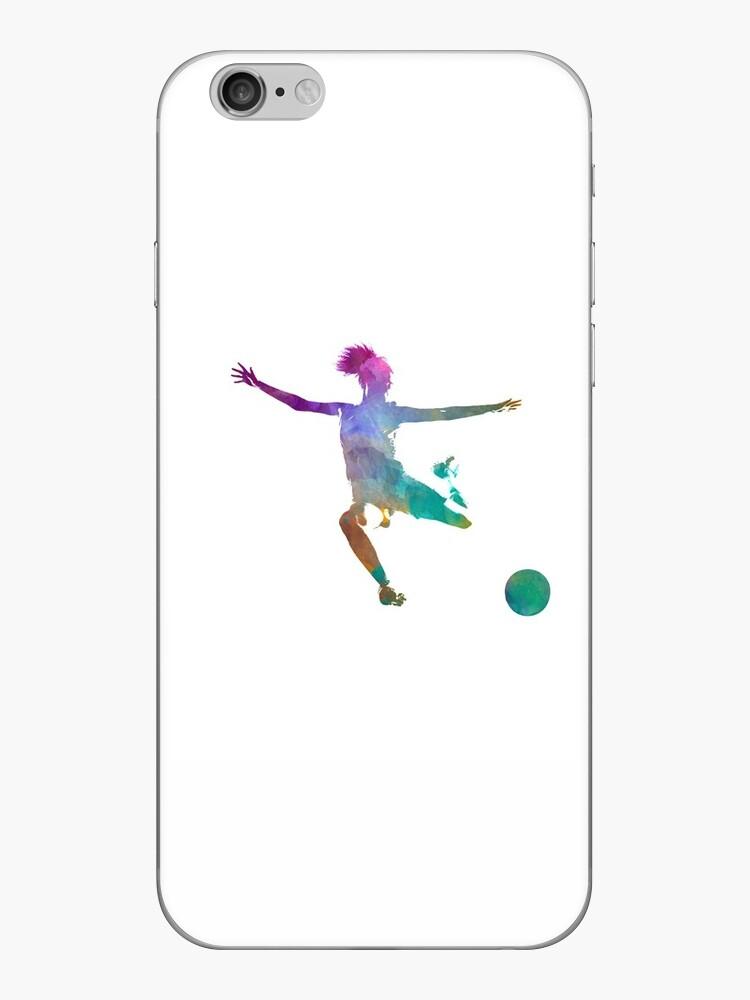 «Mujer futbolista 03 en acuarela» de paulrommer