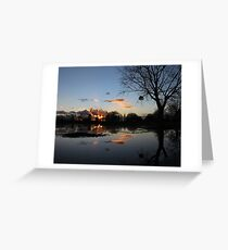 Reflecting On The Flood Greeting Card