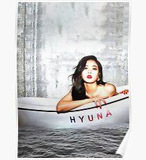 Póster Hyuna (현아), 4 minutos, estrella de Kpop