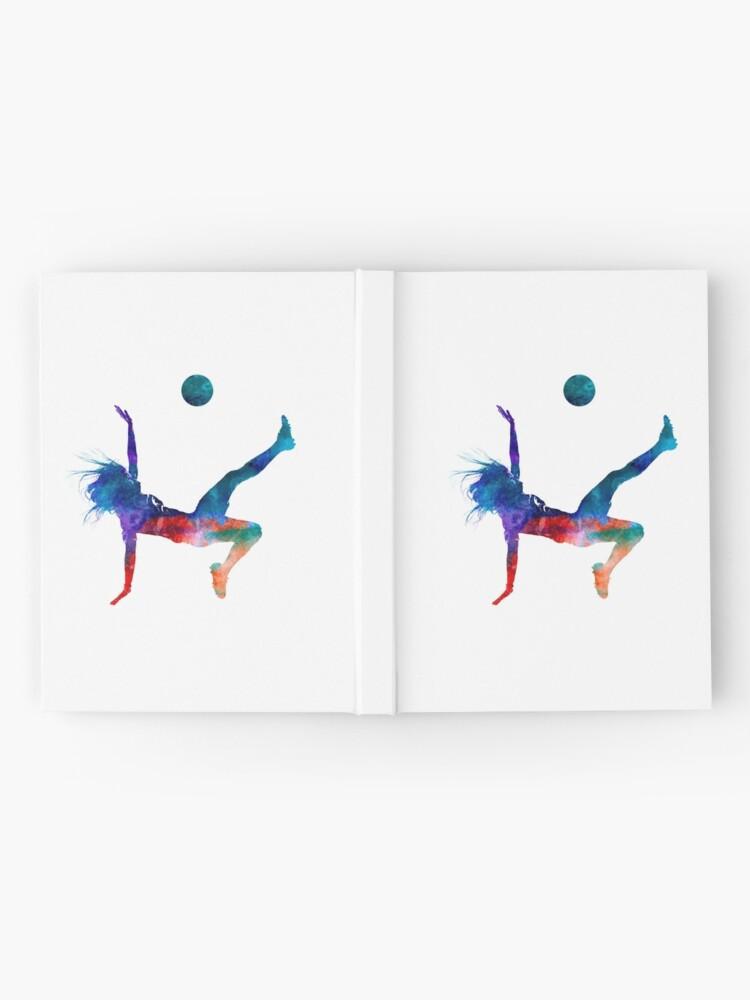 Vista alternativa de Cuaderno de tapa dura Jugador de fútbol femenino 08 en acuarela