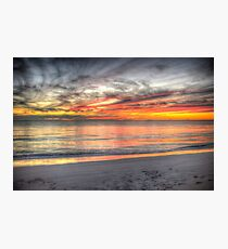 Sunset at Sandy Cape Photographic Print