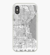 Milwaukee Map Line iPhone Case
