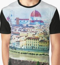 Watercolor painting of Florence Italy Graphic T-Shirt