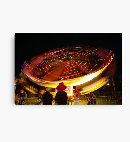 Spinning lights, Albany Show Canvas Print