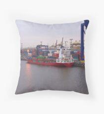 Container Ship BF Victoria Throw Pillow