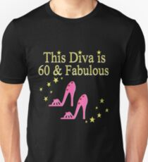 PINK SPARKLING 60 AND FABULOUS Unisex T Shirt