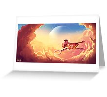 Ride over the clouds Greeting Card
