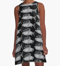 CRAZY Shark lady  A-Line Dress