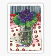 Violets from Judy Sticker