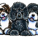 Three Water Dogs by offleashart