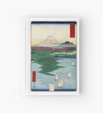 Noge Yokohama In Musashi Province - Hiroshige Ando - 1858 - woodcut Hardcover Journal