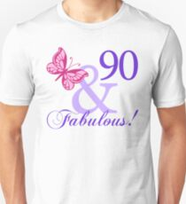 Fabulous 90th Birthday Unisex T-Shirt