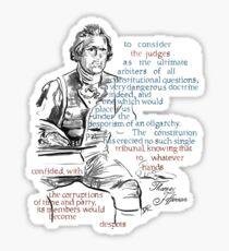 Thomas Jefferson Picture Quote - The Constitution Sticker