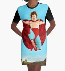 Leaping Lanny Nacho Graphic T-Shirt Dress