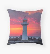 The Morning Light Show Throw Pillow