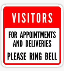 Please ring bell Sticker