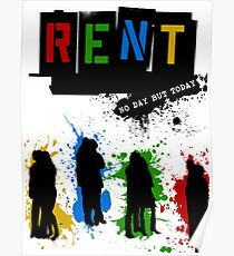 RENT Musical Paint Splash Poster
