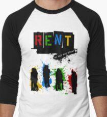 RENT Musical Paint Splash Men's Baseball ¾ T-Shirt