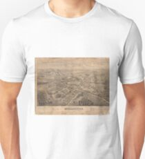 Vintage Pictorial Map of Morristown NJ (1876) T-Shirt