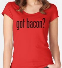 Got Bacon Women's Fitted Scoop T-Shirt