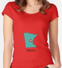 Minnesota State Heart Women's Fitted Scoop T-Shirt