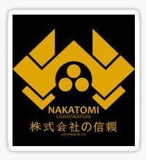 NAKATOMI PLAZA - DIE HARD BRUCE WILLIS (YELLOW) Sticker