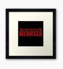 Musician (red) Framed Print