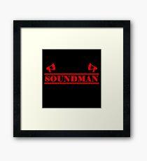 Soundman red Framed Print