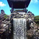 Japanese Botanical Garden Waterfall by DeziUnique