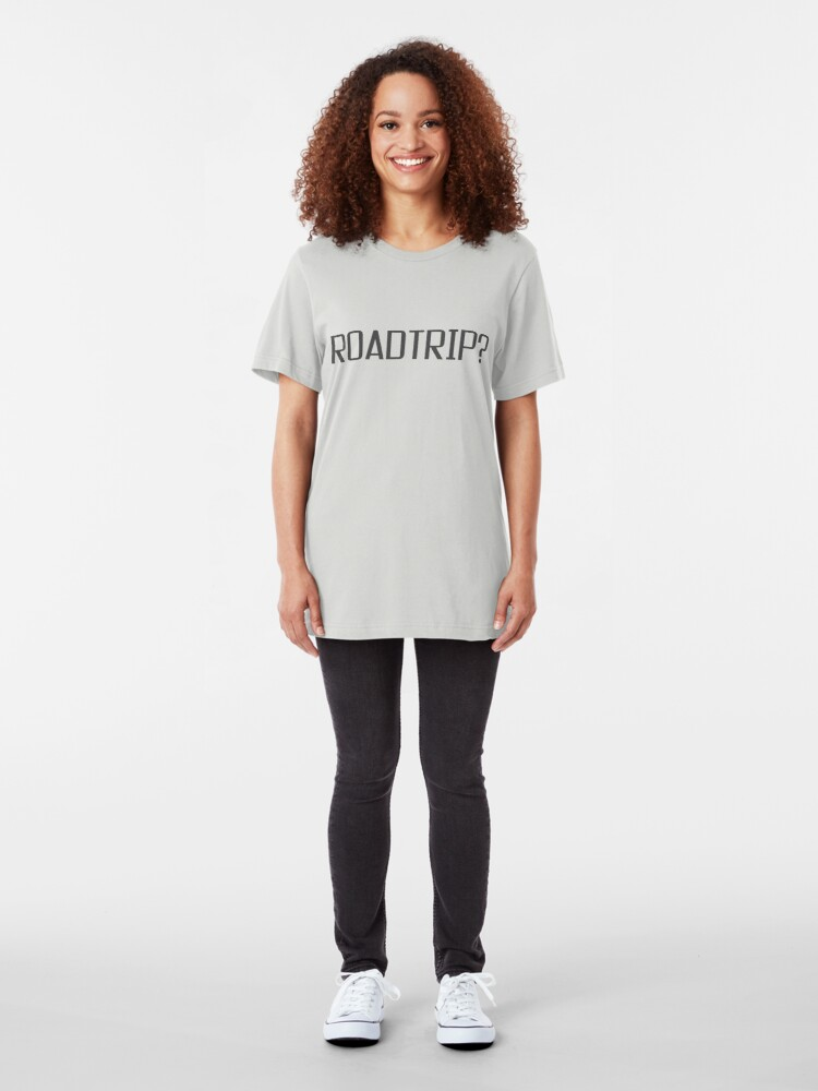 Alternate view of Roadtrip Travel Adventure Holiday Simple T shirt Sign Slim Fit T-Shirt