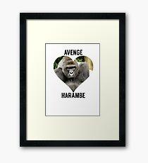 AVENGE HARAMBE Framed Print