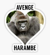 AVENGE HARAMBE Sticker