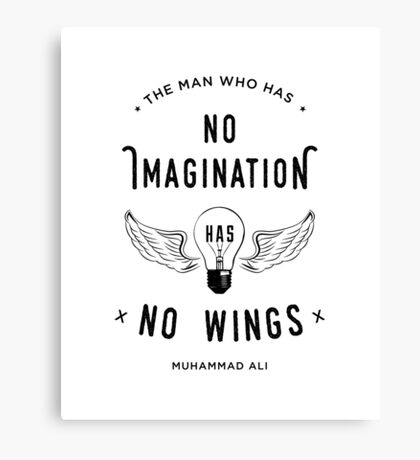 Muhammad Ali Wings Quote Canvas Print