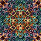 Colorful Geometric Fractal Pattern by Lyle Hatch