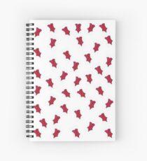 Cute little red corset Spiral Notebook